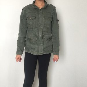 COPY - Thick army green Jean jacket